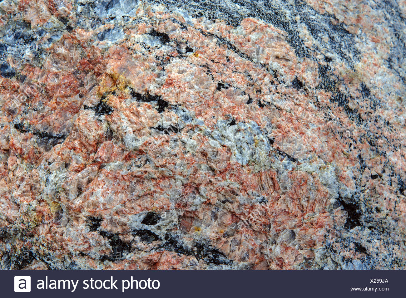 unprocessed granite block - Stock Image