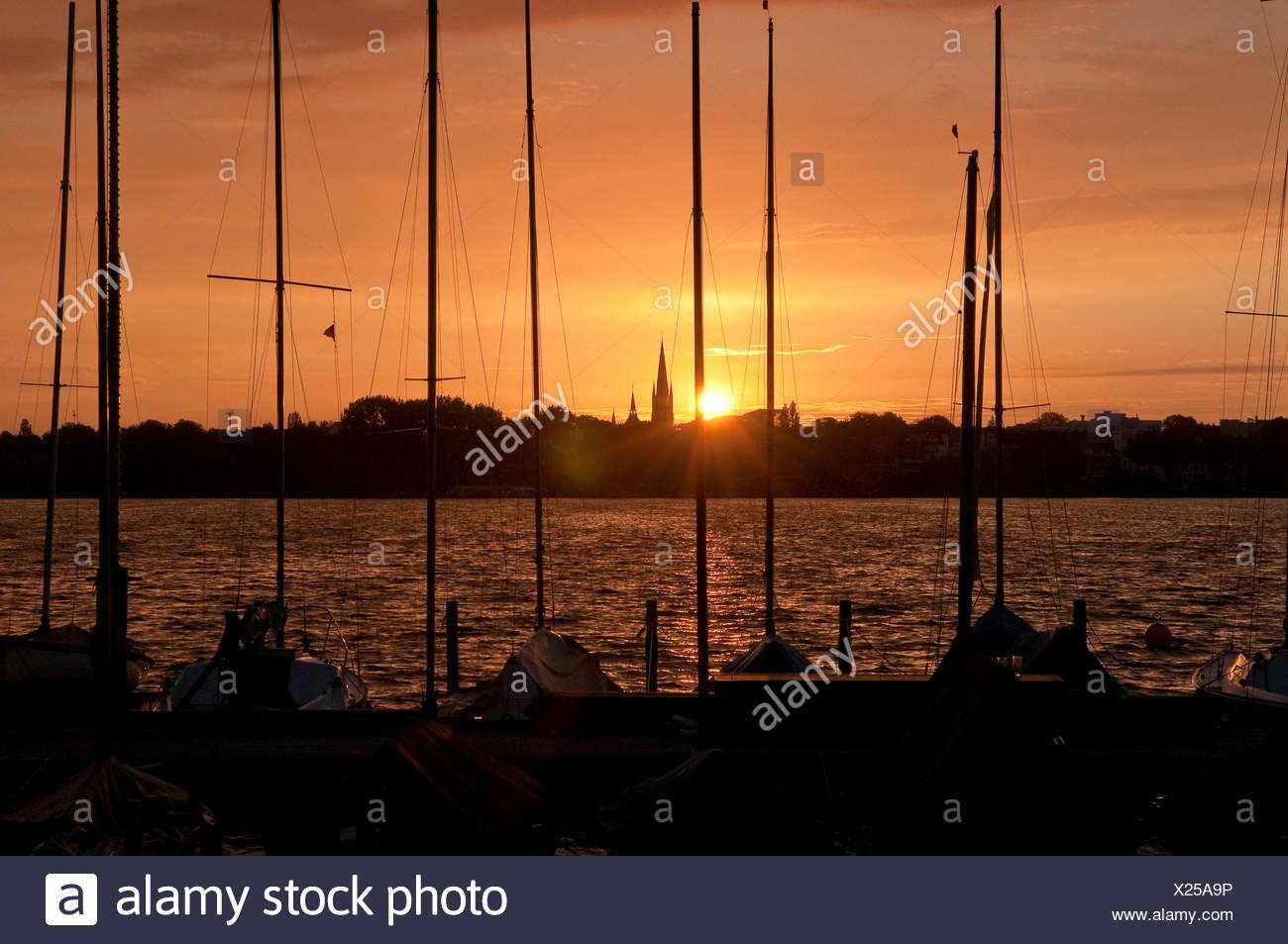 sunset,marina Stock Photo