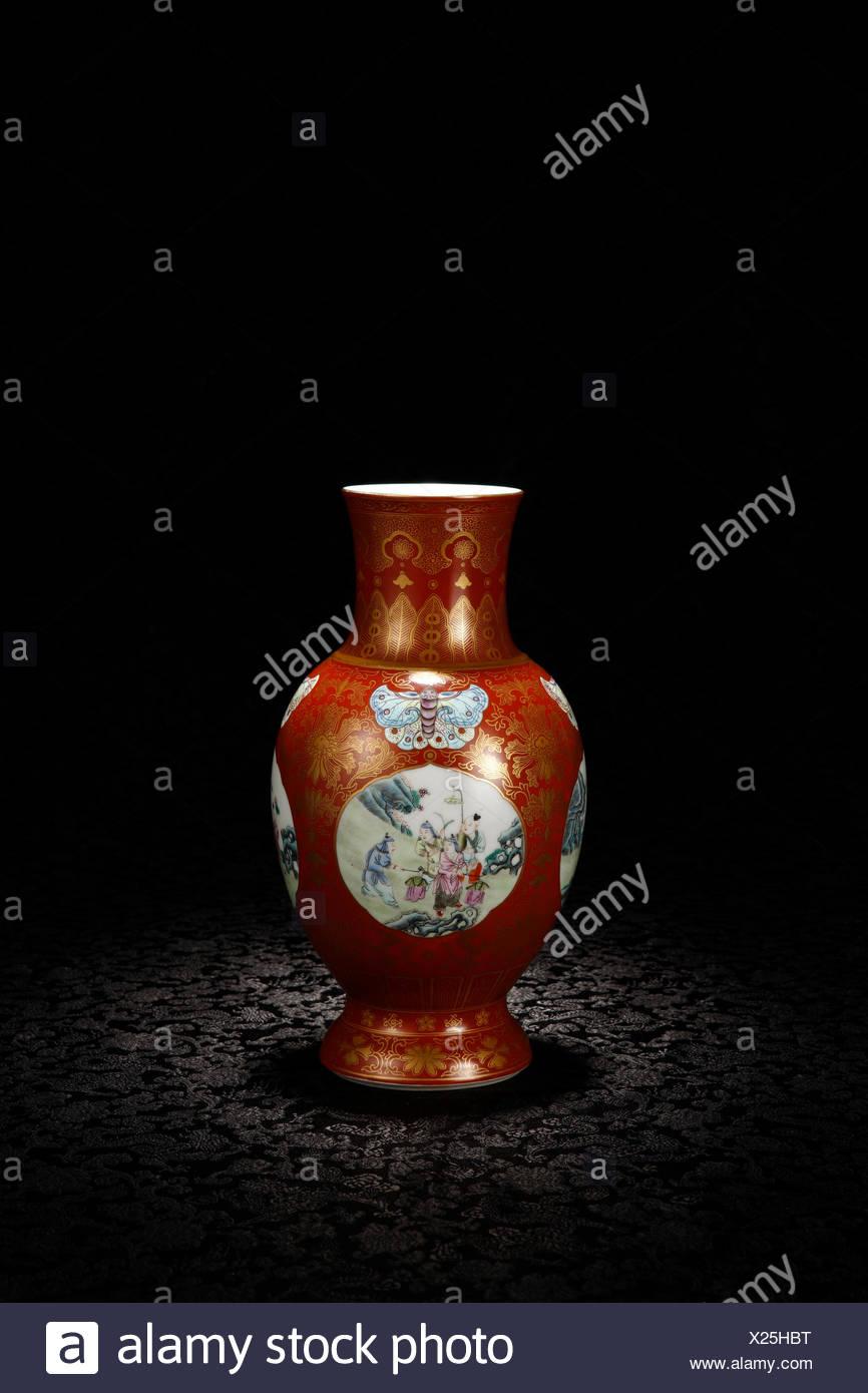 Pastel description Jin Kaiguang figure bottle - Stock Image