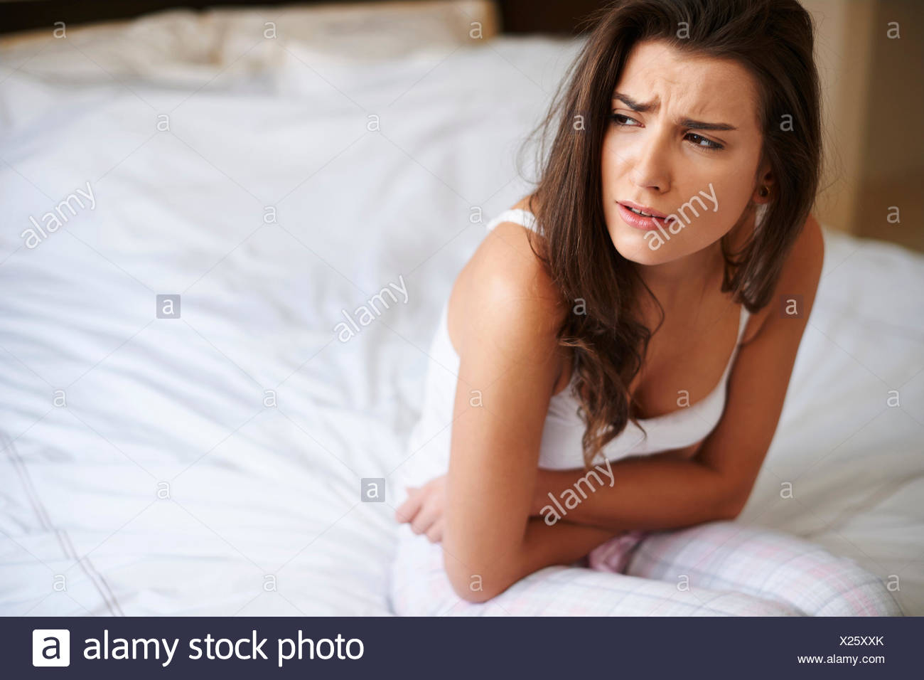 This pain is so exhausting. Debica, Poland - Stock Image
