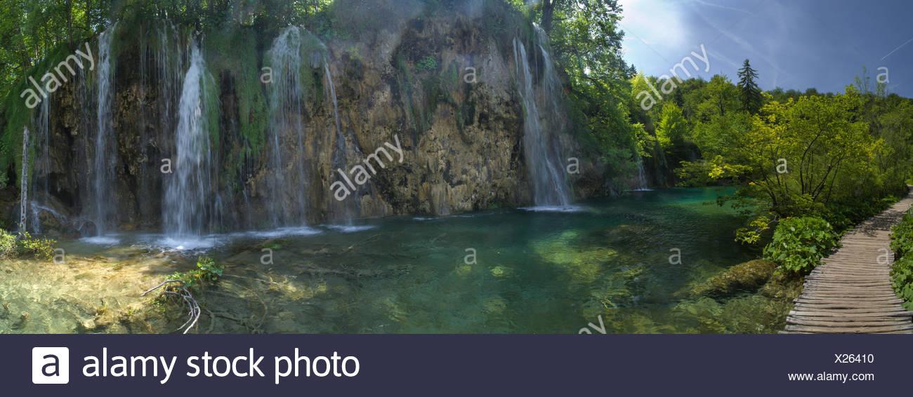 National park Plitvice lakes, - Stock Image