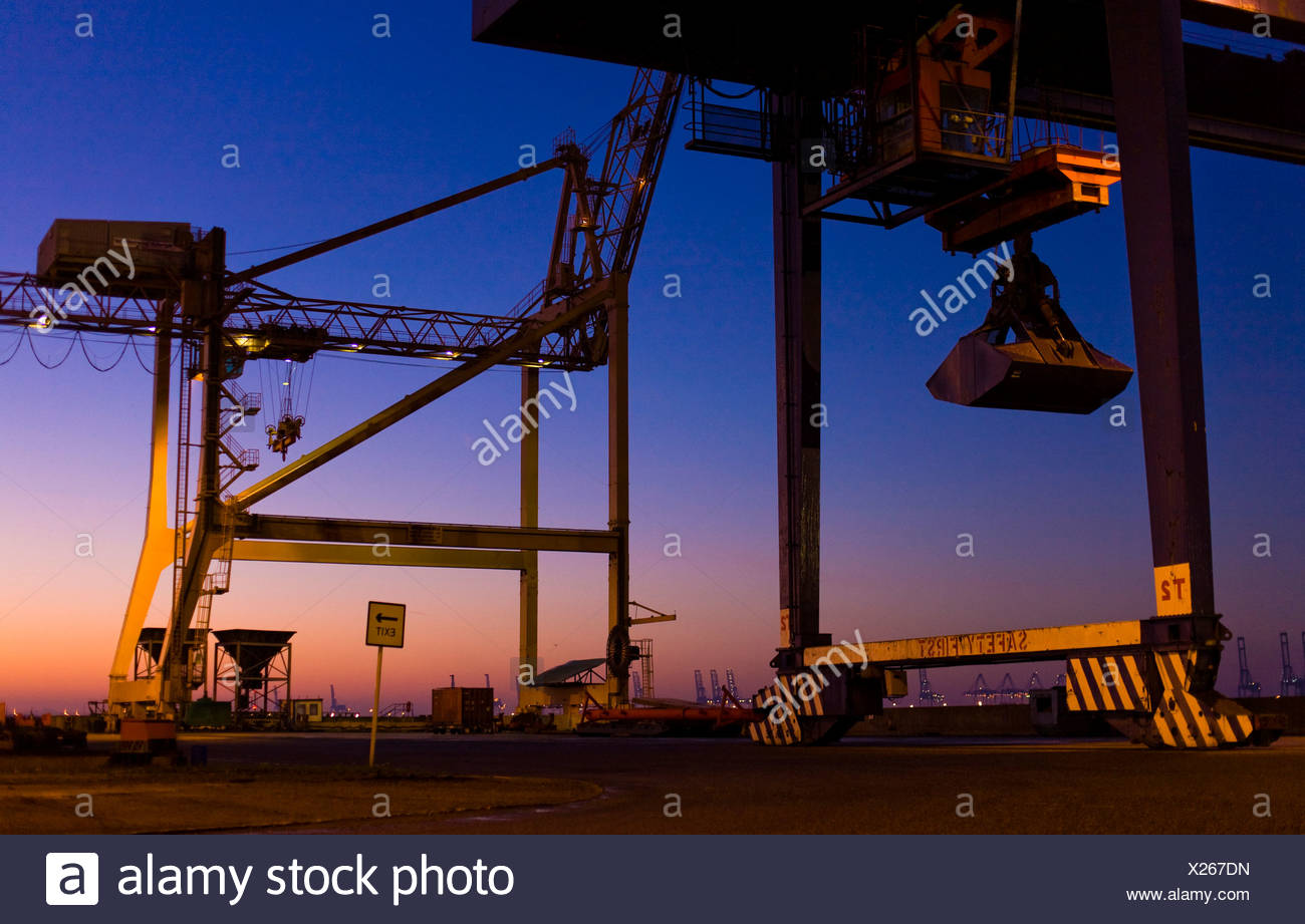 Harwich Harbour at dawn, England, Great Britain, Europe - Stock Image