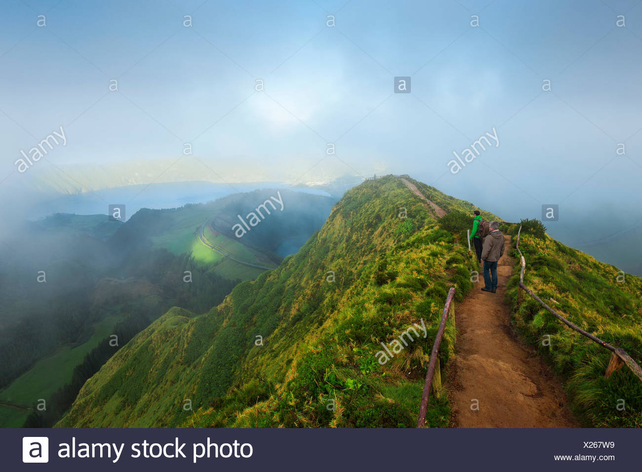Lookout on Sete Cidades, Sao Miguel, the Azores, Portugal - Stock Image