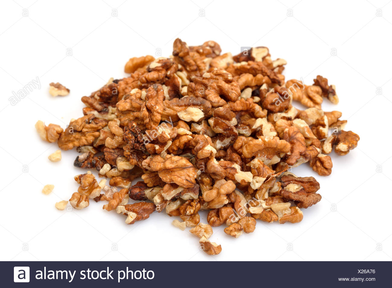 Heap Purified Walnuts - Stock Image