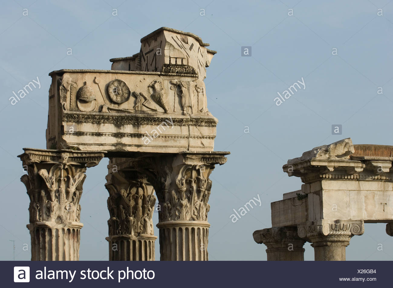 The Roman Forum gives us an idea of how ancient Rome was laid out. - Stock Image