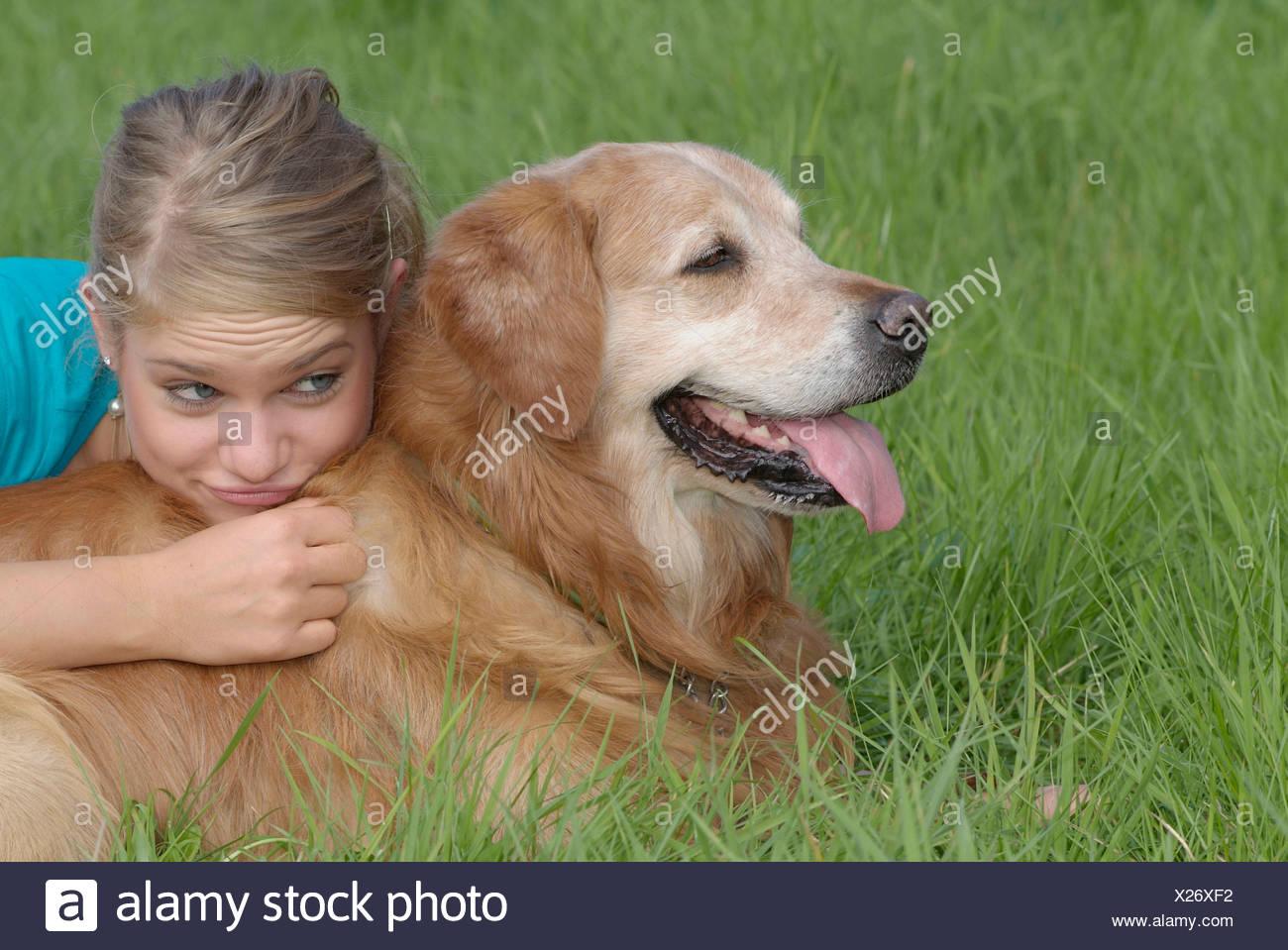 frau hund