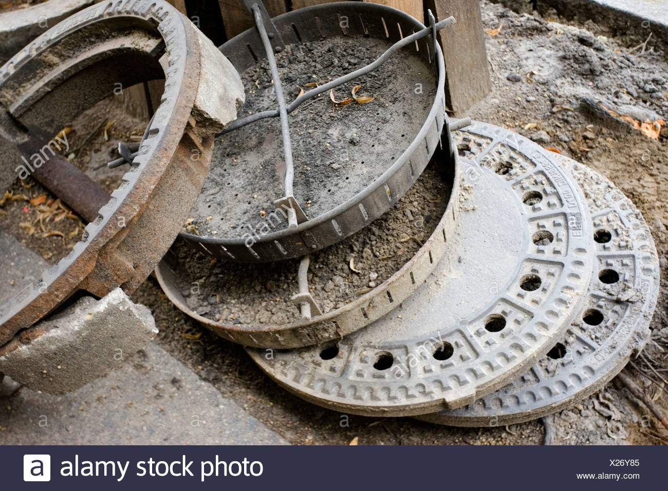 Old drains - Stock Image