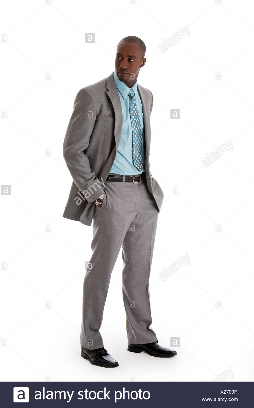 Handsome African business man - Stock Image