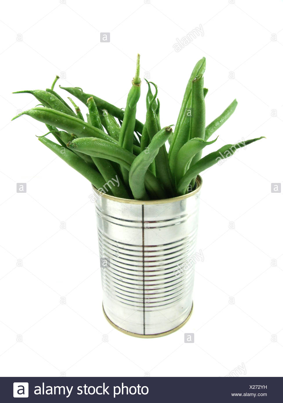 beans vegetable tins - Stock Image