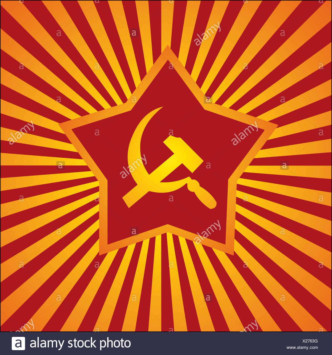 komunistischer background - Stock Image