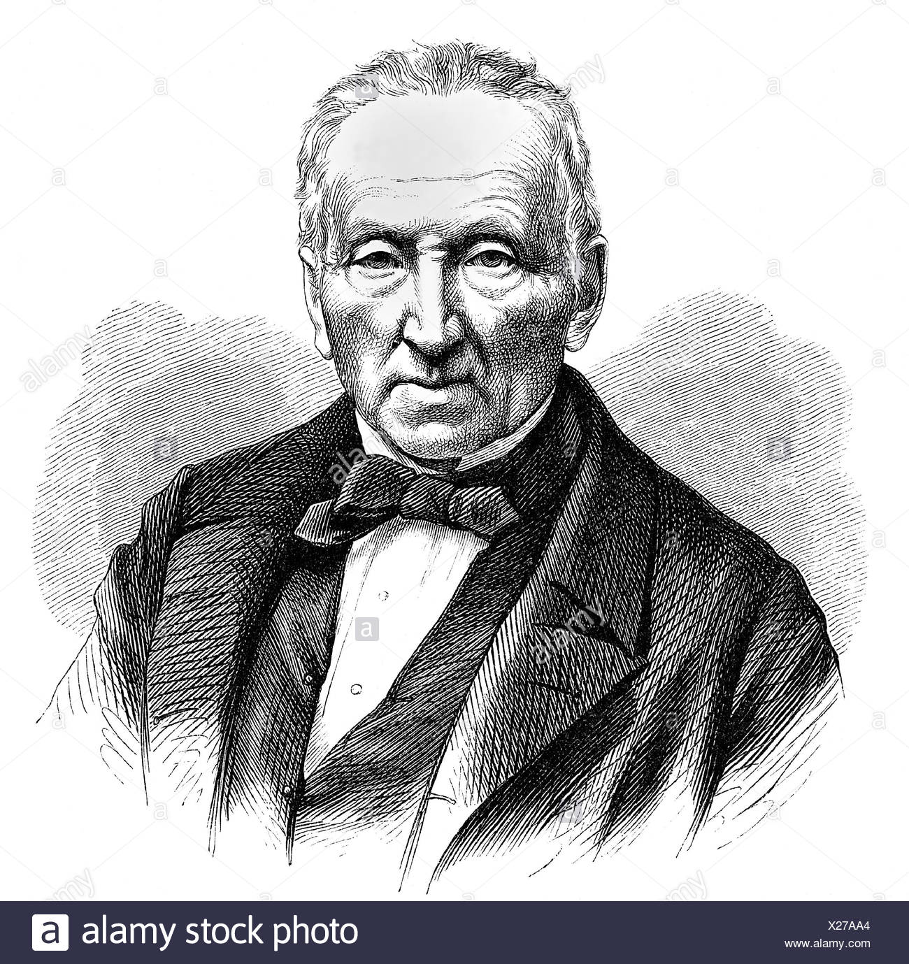 Waldmueller, Ferdinand Georg, 15.1.1793 - 23.8.1865, German painter, professor at the Vienna Academy, portrait, etching, , Additional-Rights-Clearances-NA - Stock Image