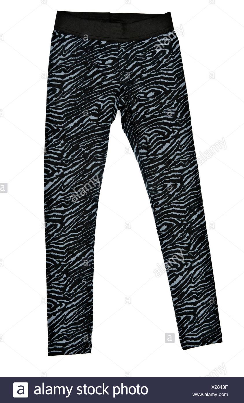 Black women's tight leggings - Stock Image