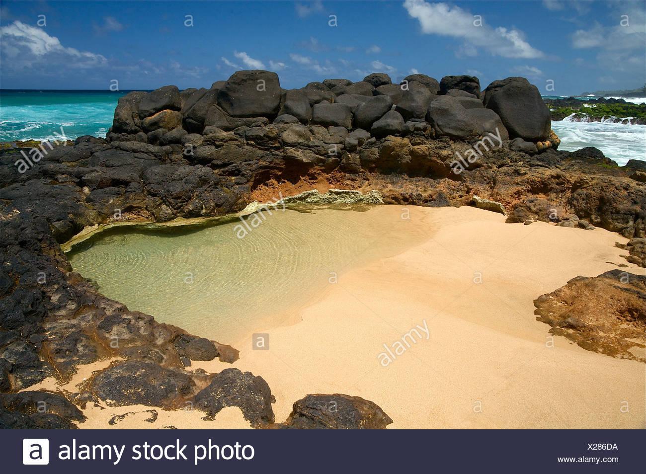 Hawaii Kauai Kauapea Beach Secret Beach Stock Photo Alamy