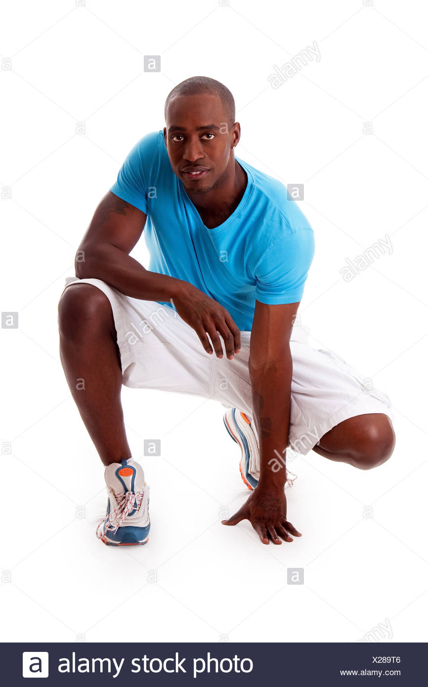 Handsome sporty guy - Stock Image