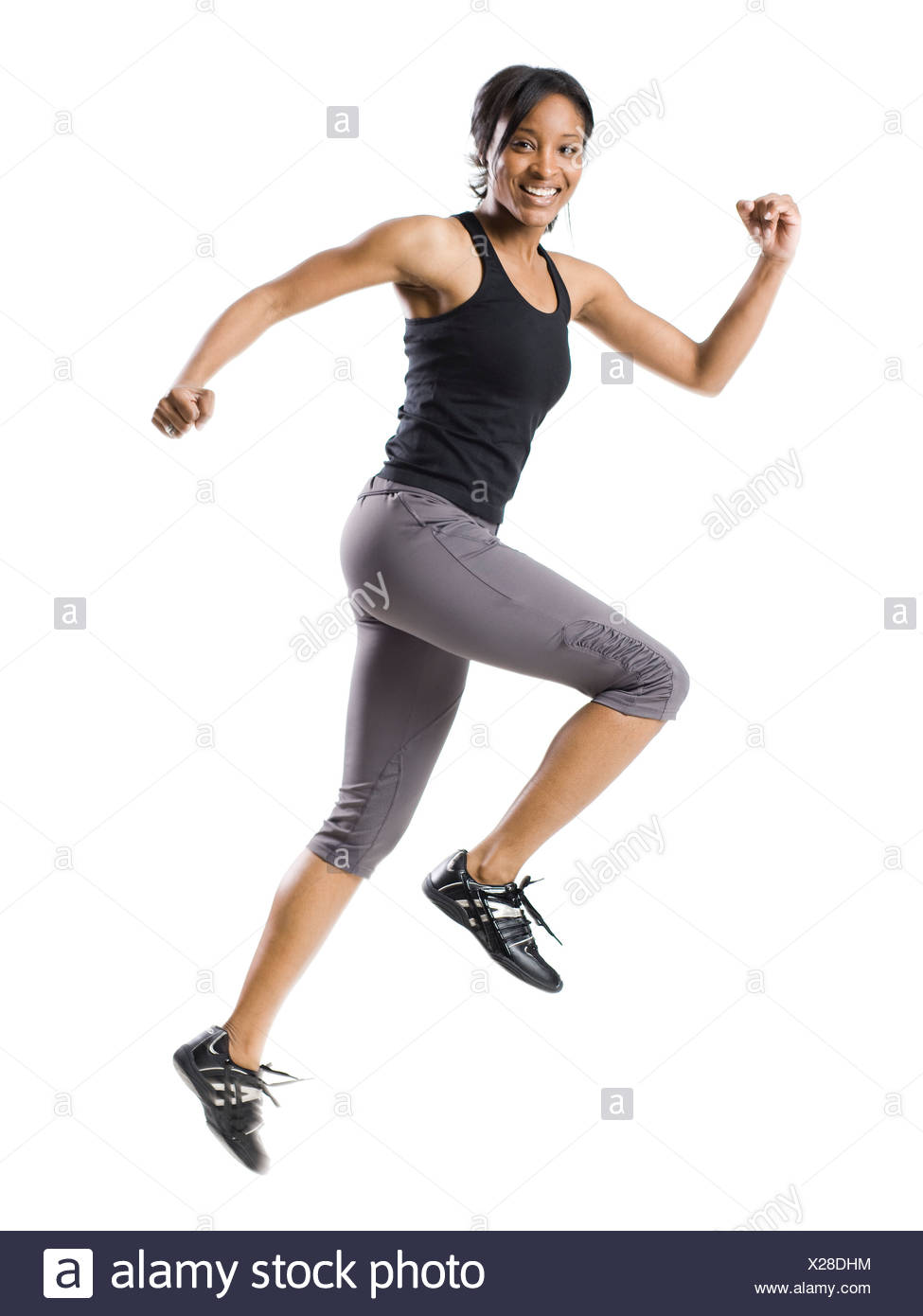woman working out - Stock Image