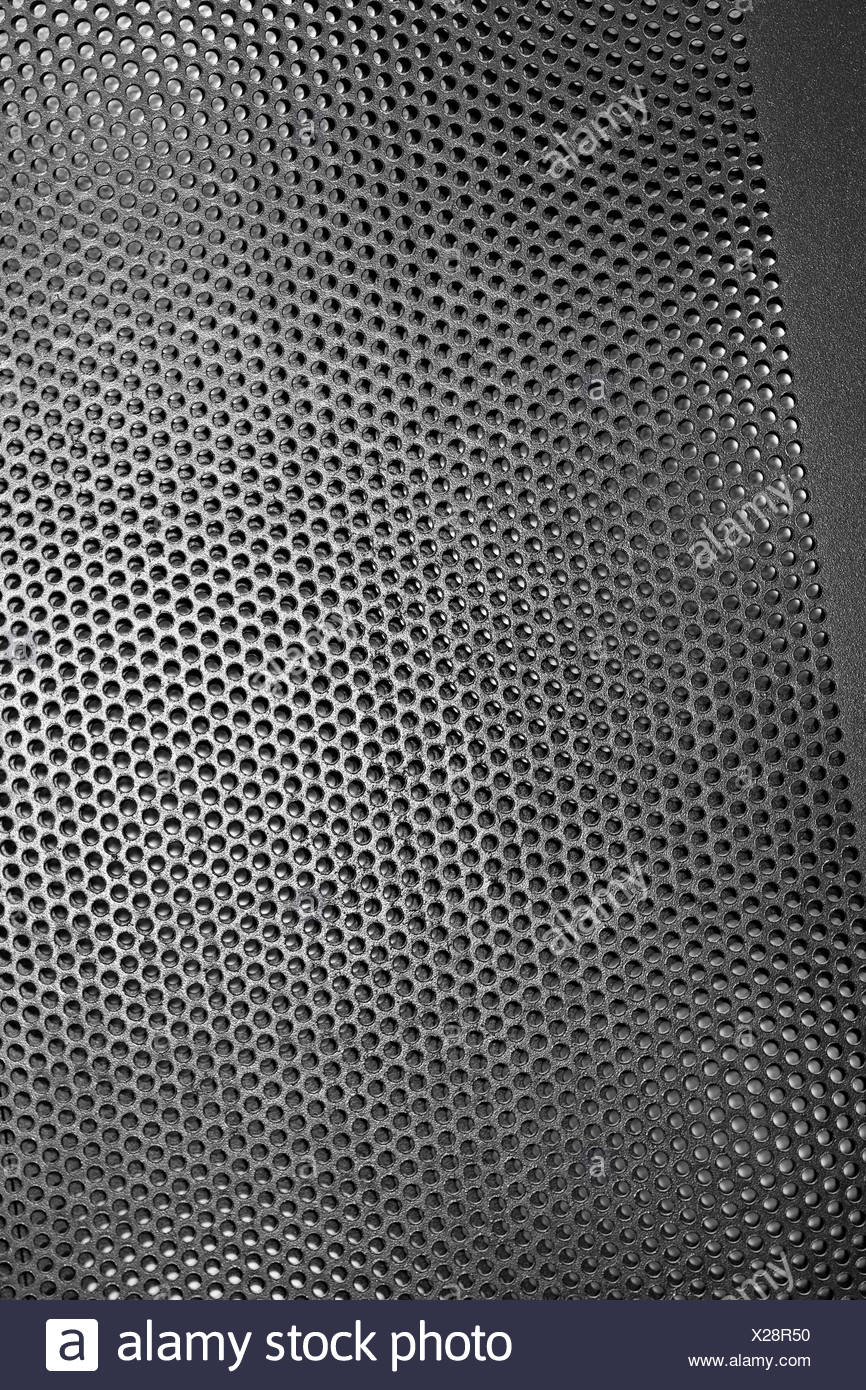 Black Iron Grill with mesh backing - Stock Image