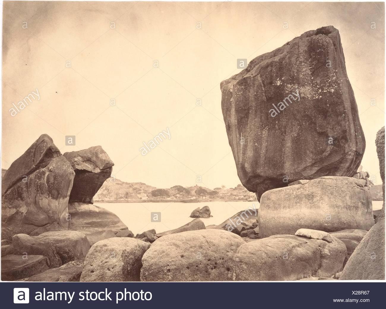 Peculiar shaped Rocks on Roolangsoo Island, Amoy. Artist: John Thomson (British, Edinburgh, Scotland 1837-1921 London); Date: ca. 1869; Medium: - Stock Image