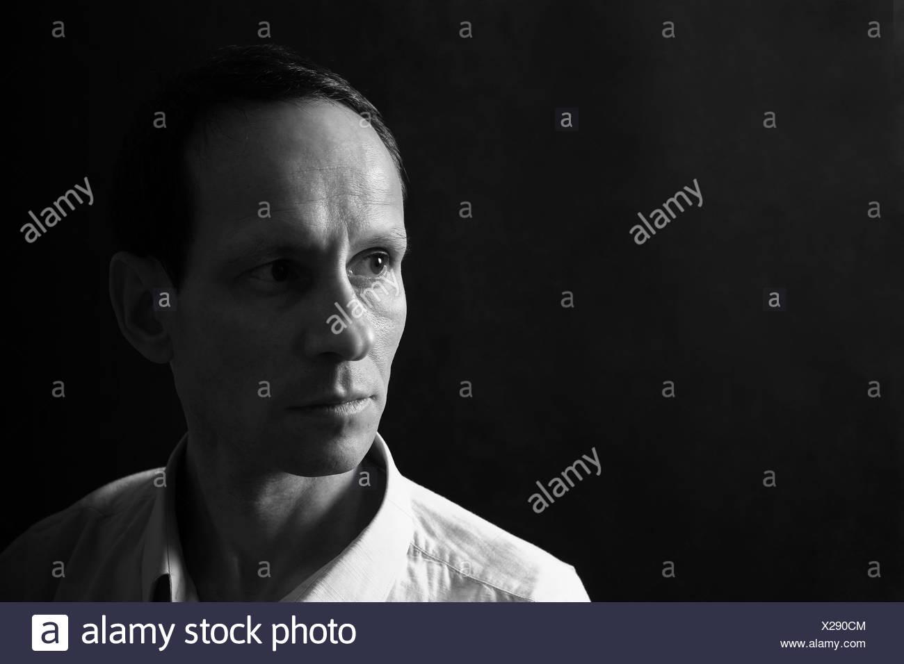 Portrait of the man - Stock Image