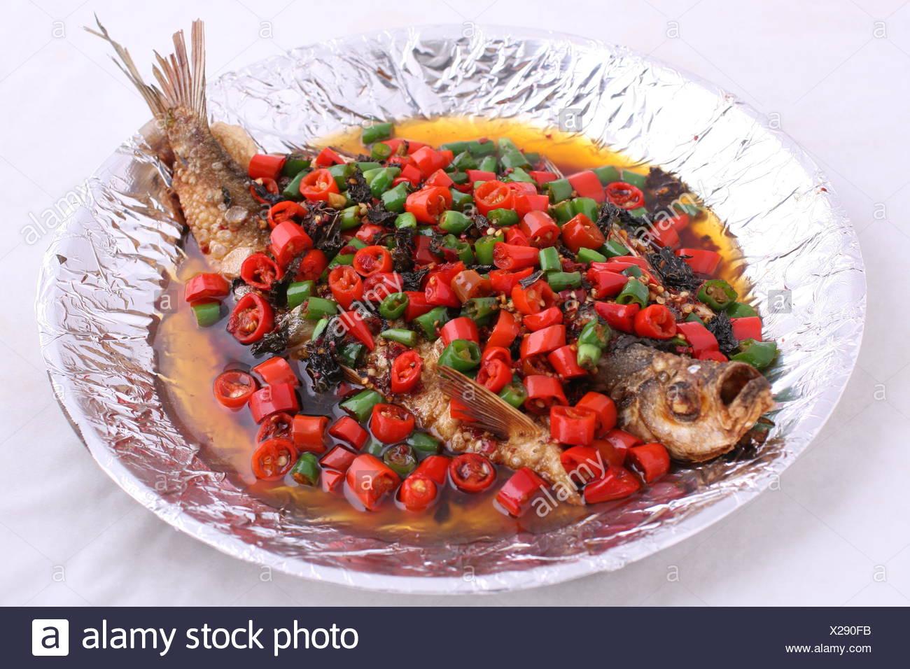 Pan tilt your fish - Stock Image