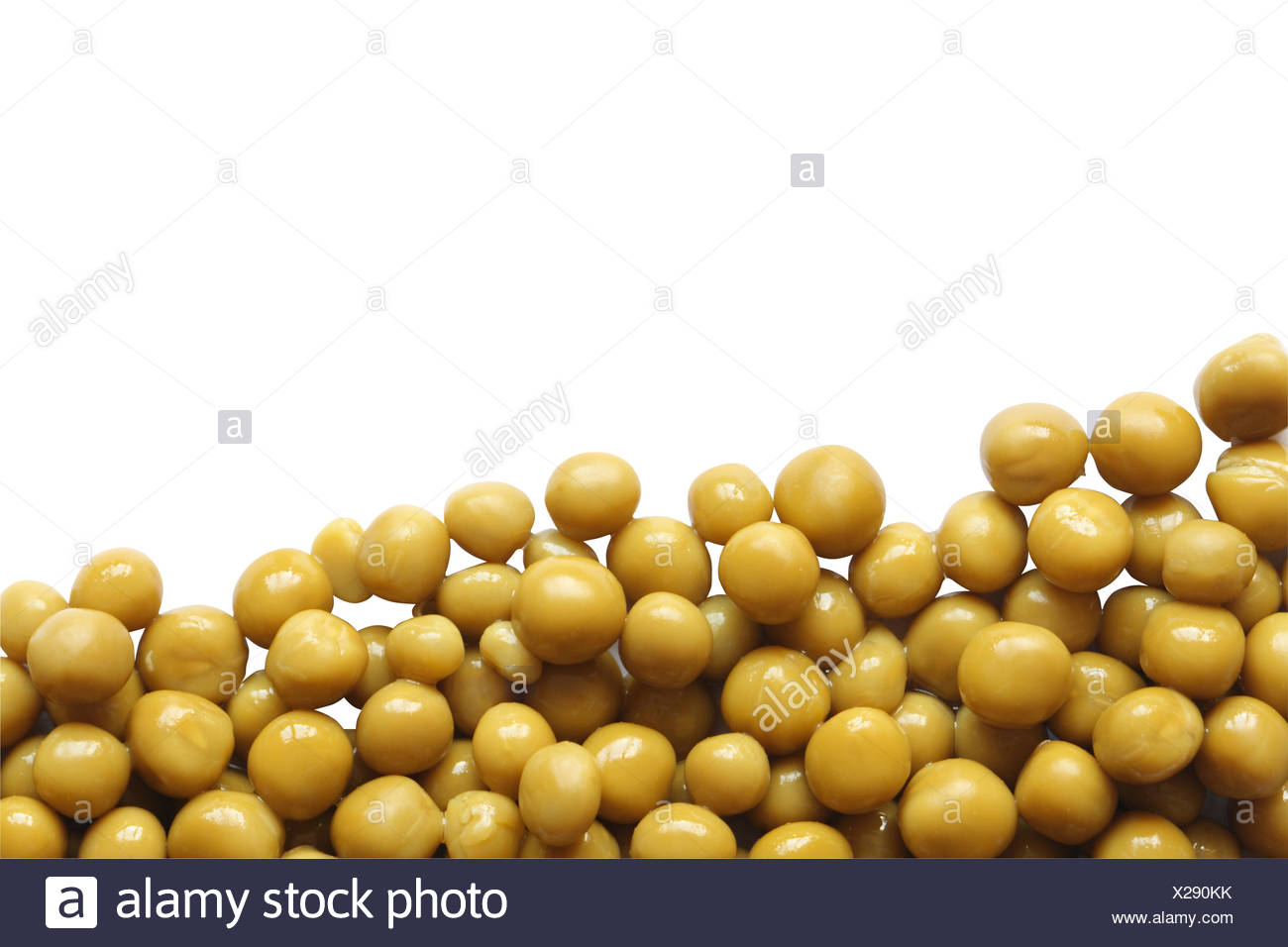 Preserved Green Peas - Stock Image