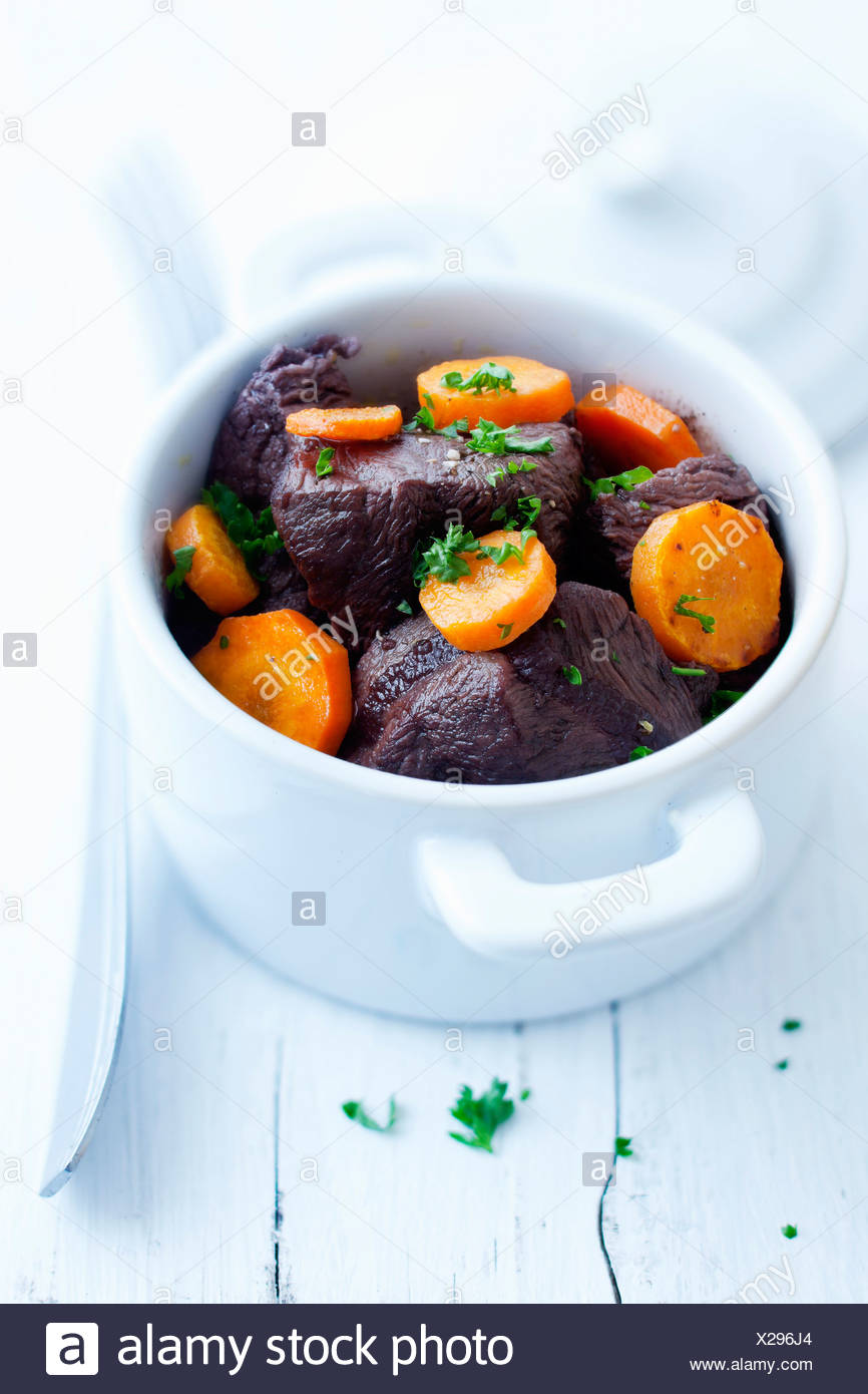 Beef and carrot stew - Stock Image