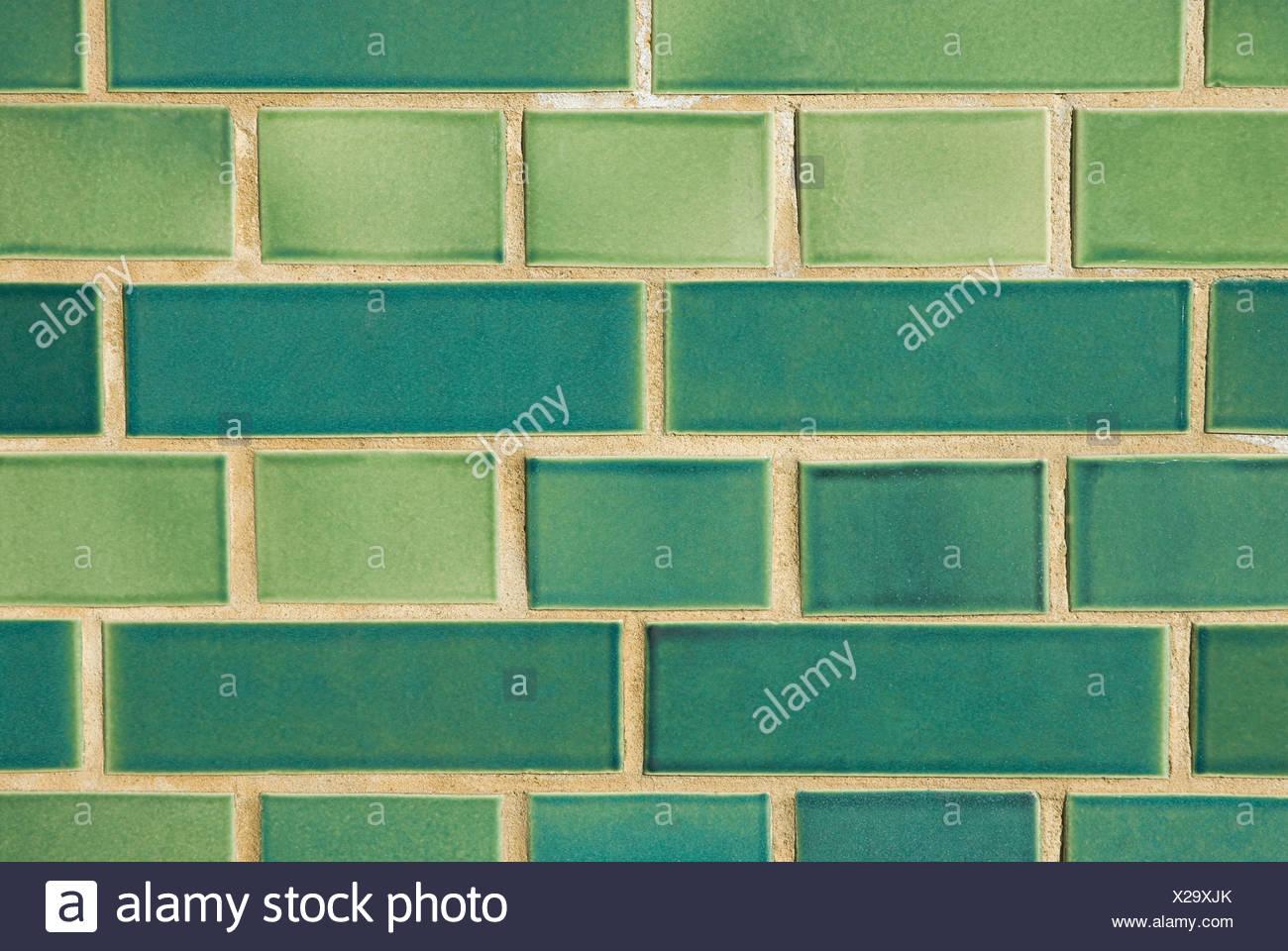 Green tiles - Stock Image