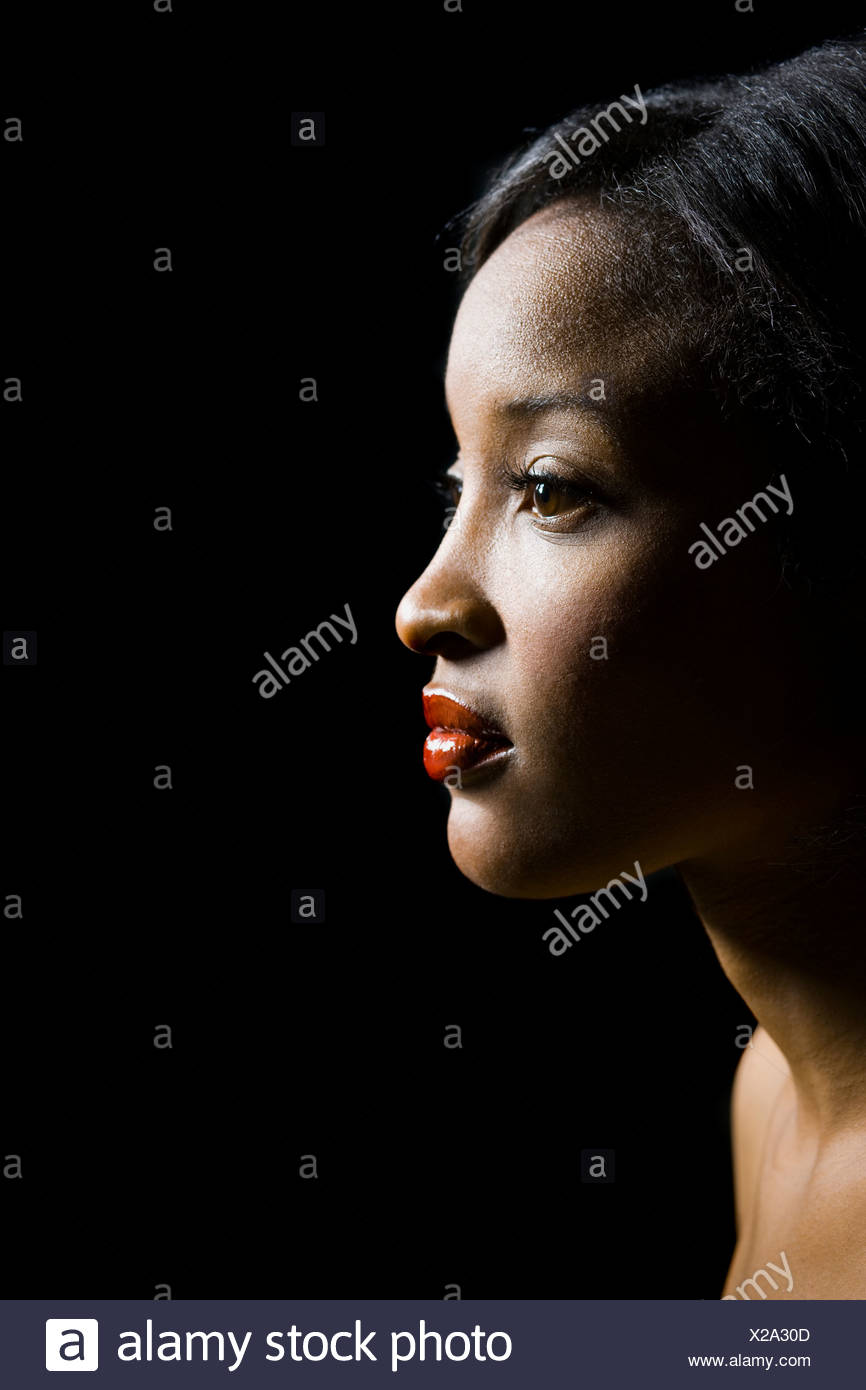profile of a woman - Stock Image