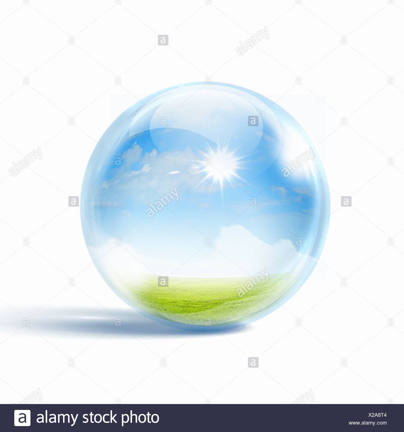 white cloud in the blue sky - Stock Image