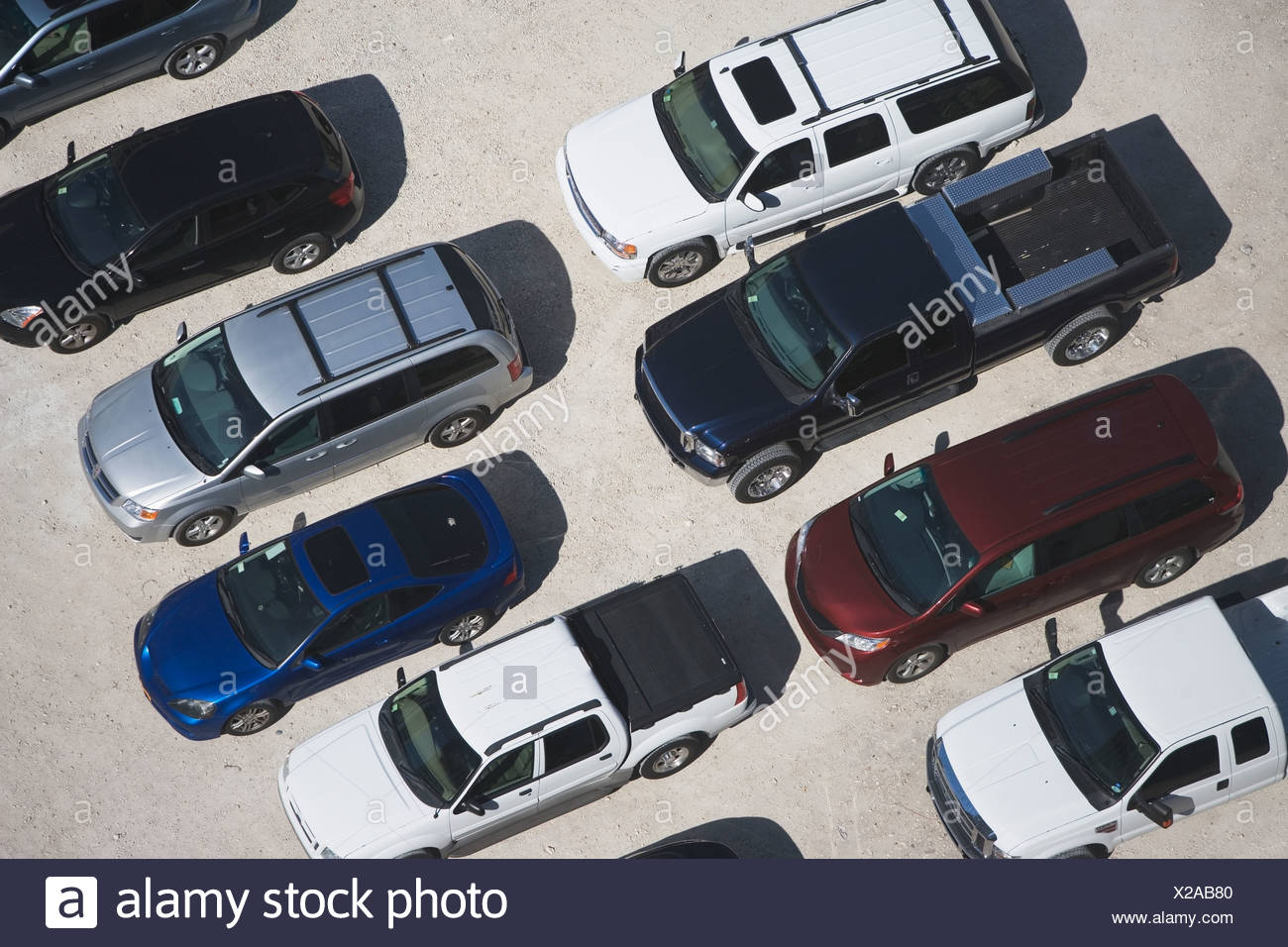 USA, Florida, Miami, Aerial view of car park - Stock Image