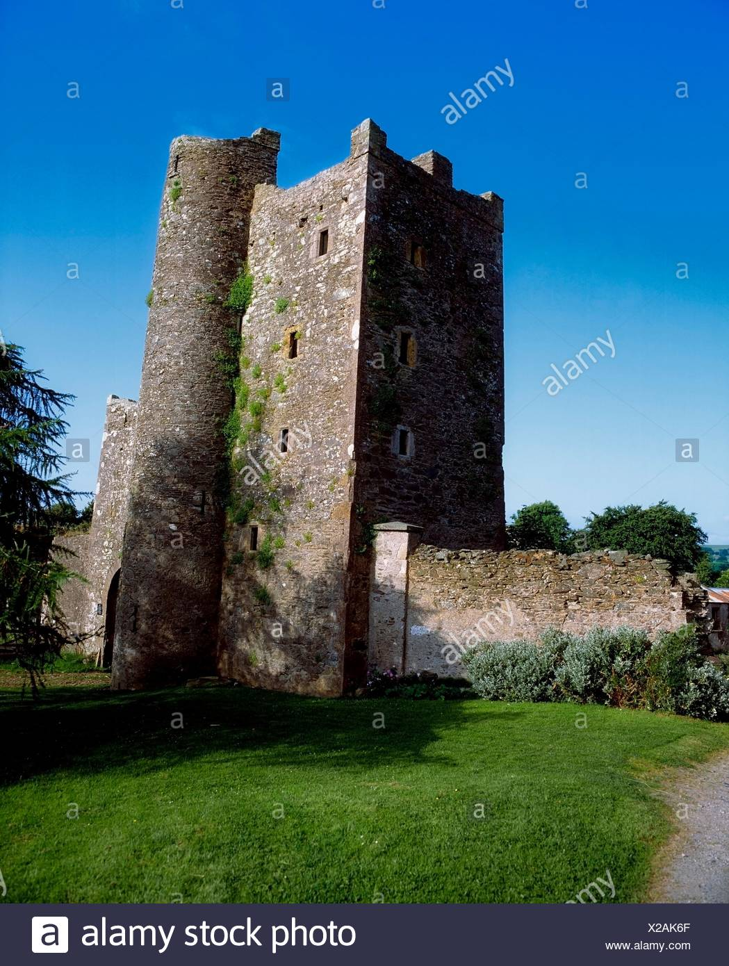 Kilteel Castle, Co Kildare, Ireland; 13Th Century Castle - Stock Image