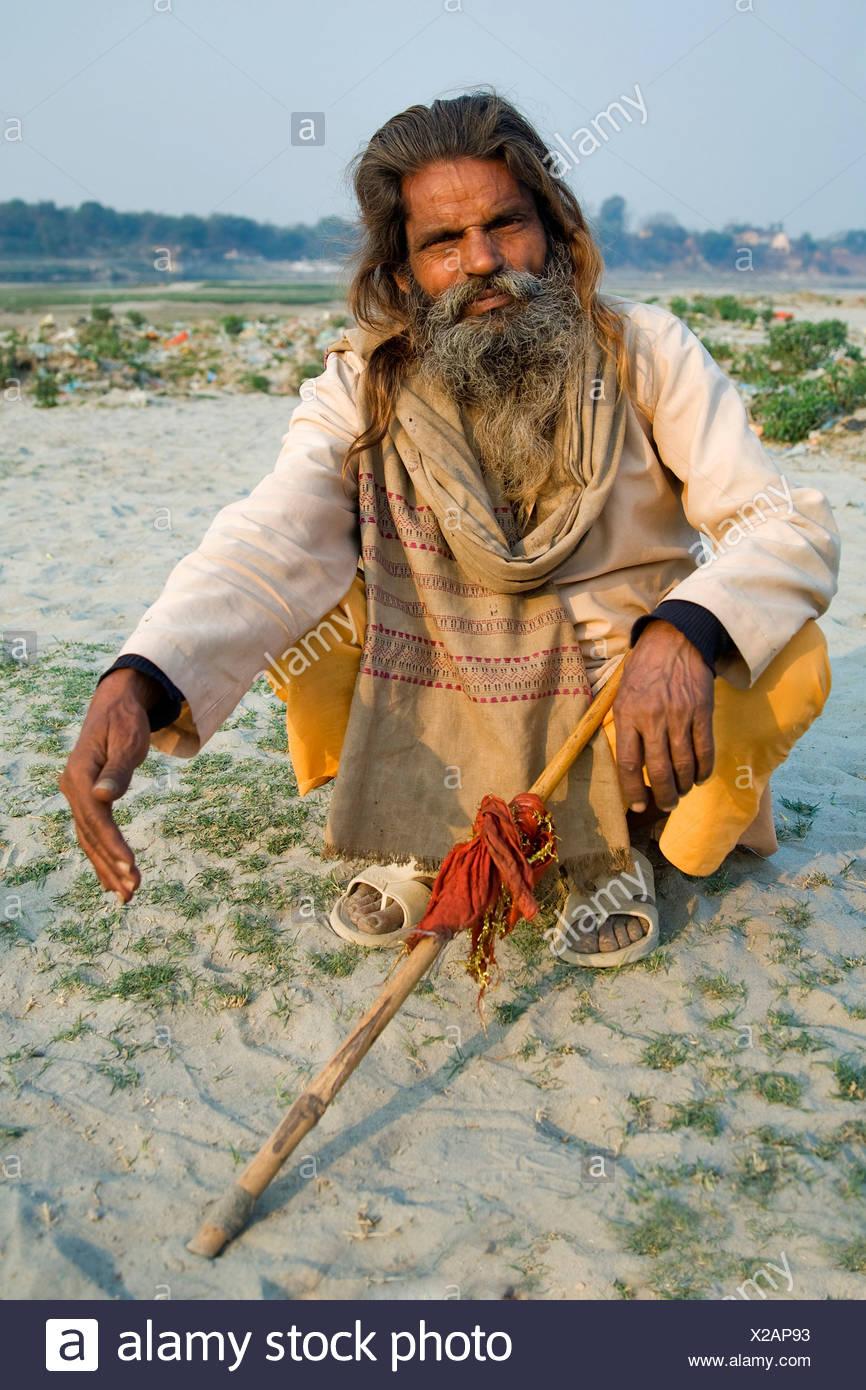Sadhu, holy man, North India, India, Asia - Stock Image