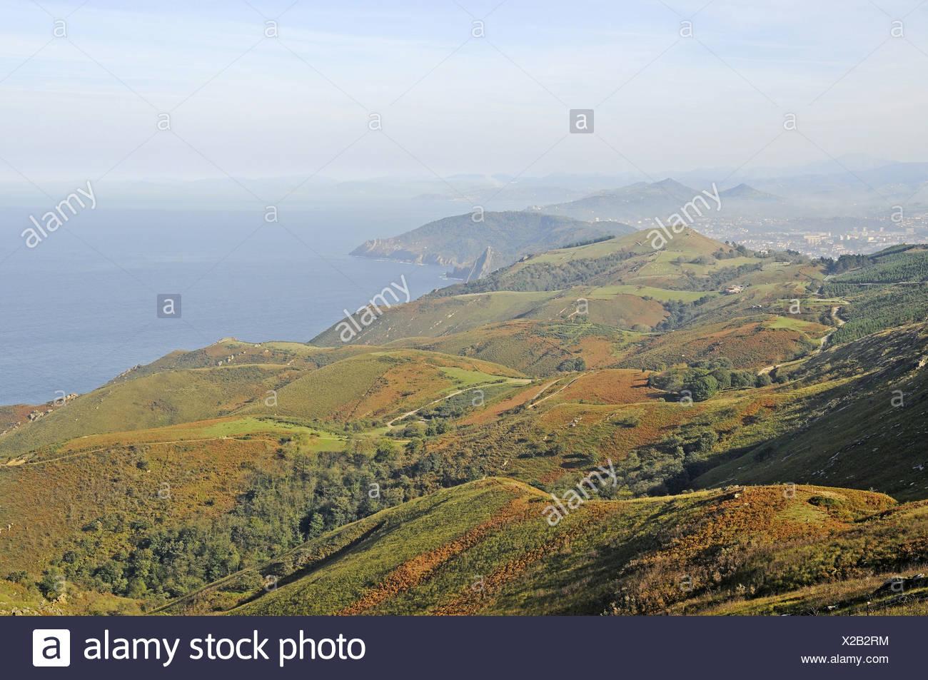 coastal landscape - Stock Image