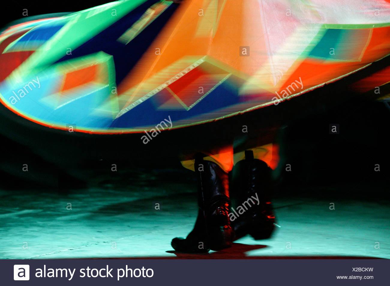 Egytian dancer Saeed the Tannoura whirling dervish dancer - Stock Image