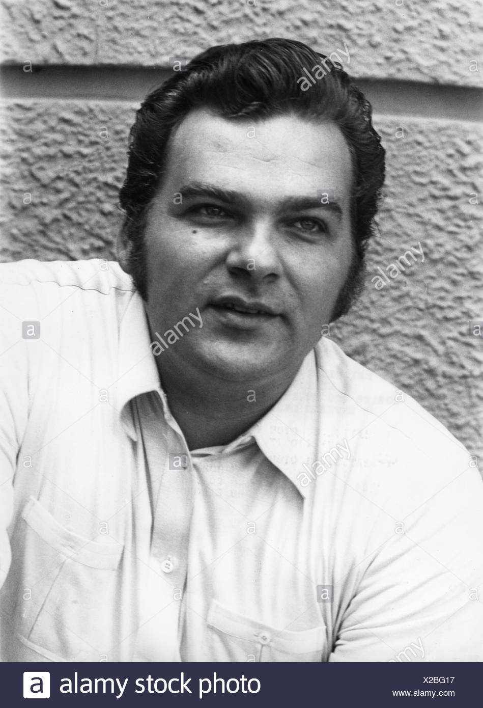 Hollweg, Werner, 13.9.1936 - 1.1.2007, German singer, portrait, 1970s, - Stock Image