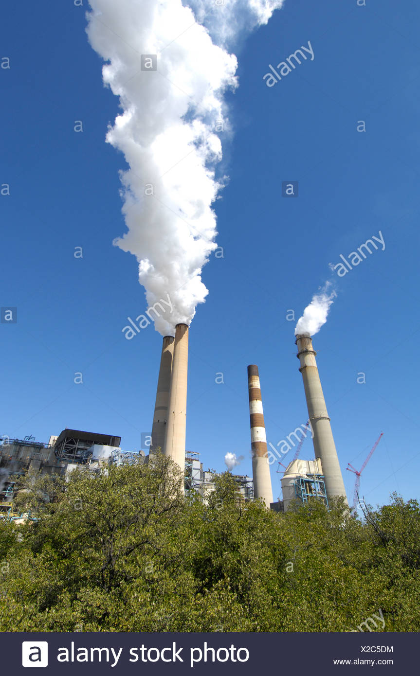Tampa Electric Company (TECO)'s Big Bend coal-fired power plant. - Stock Image