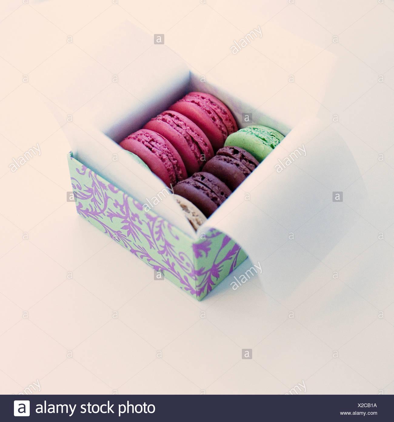 Box of macarons - Stock Image