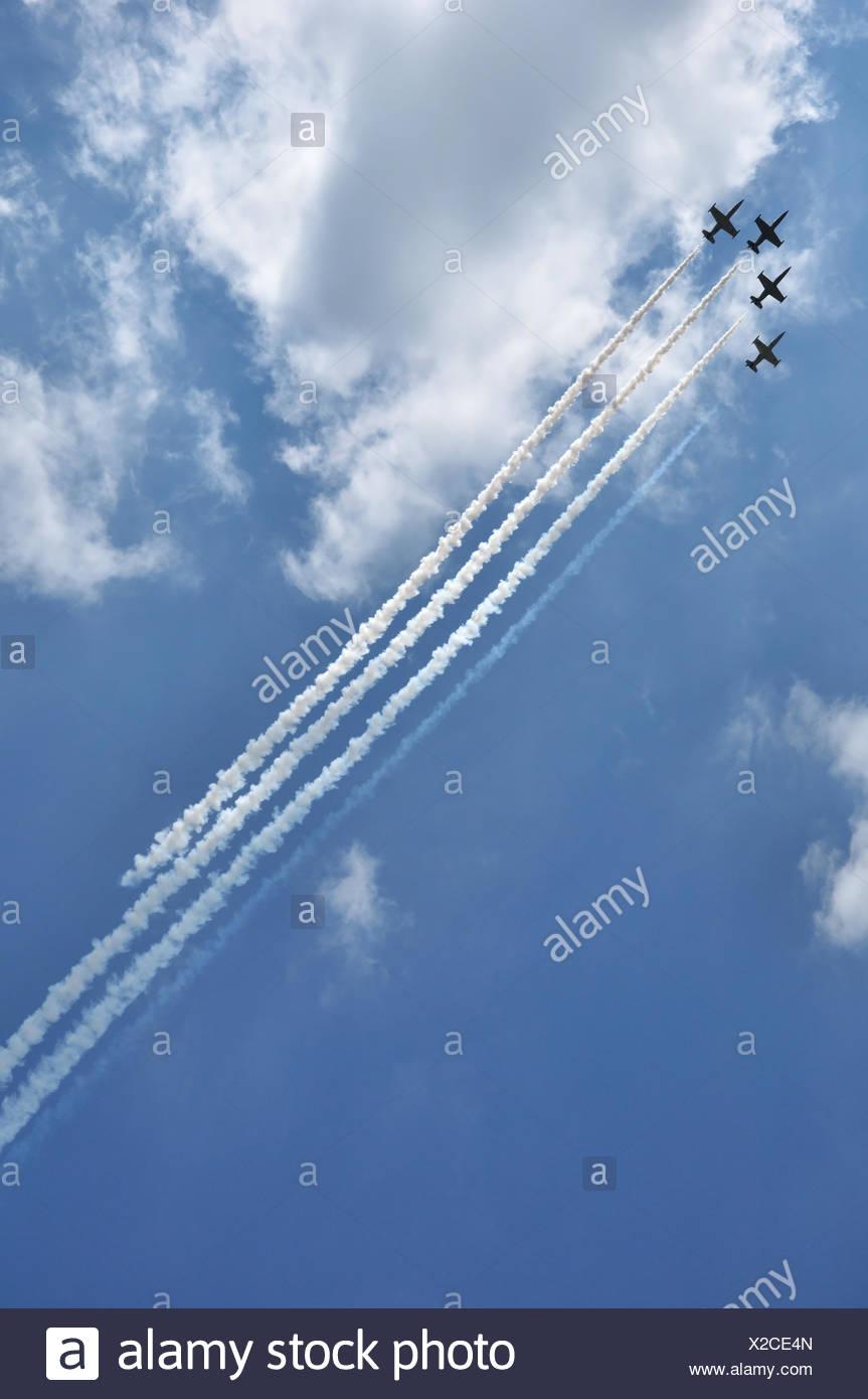 Aerobatic team at airshow - Stock Image