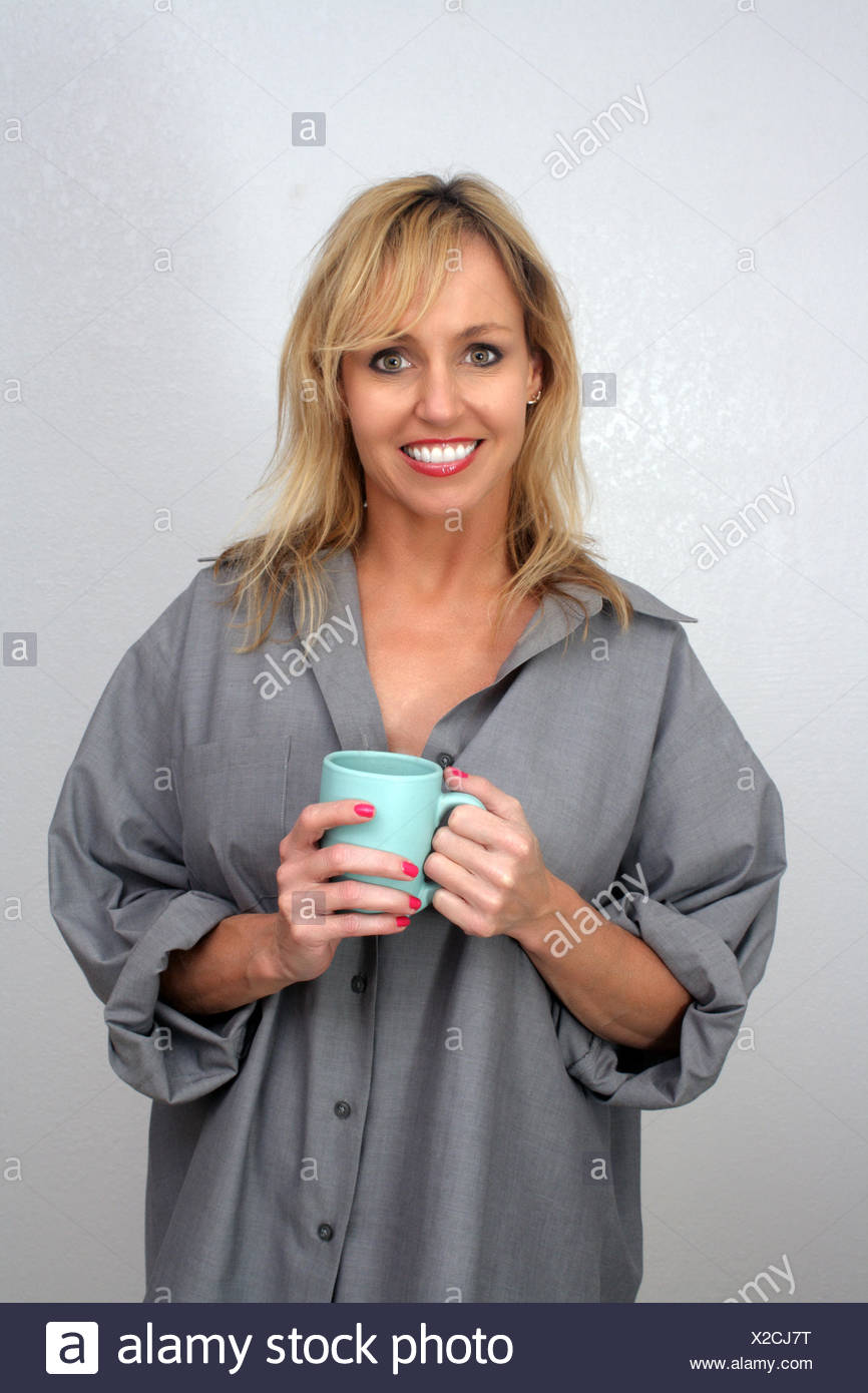 Beautiful Blonde Enjoying Hot Beverage 3 Stock Photo 276872956