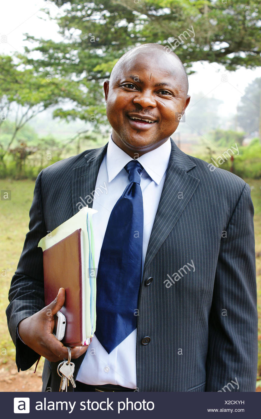 African business man in suit Stock Photo