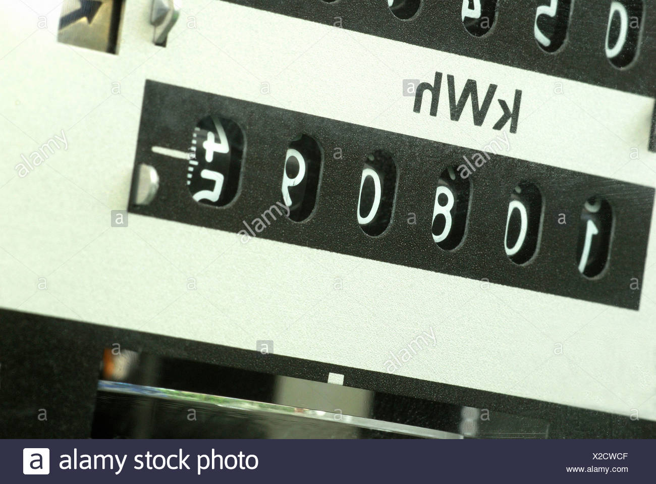 Electricity meter - Stock Image