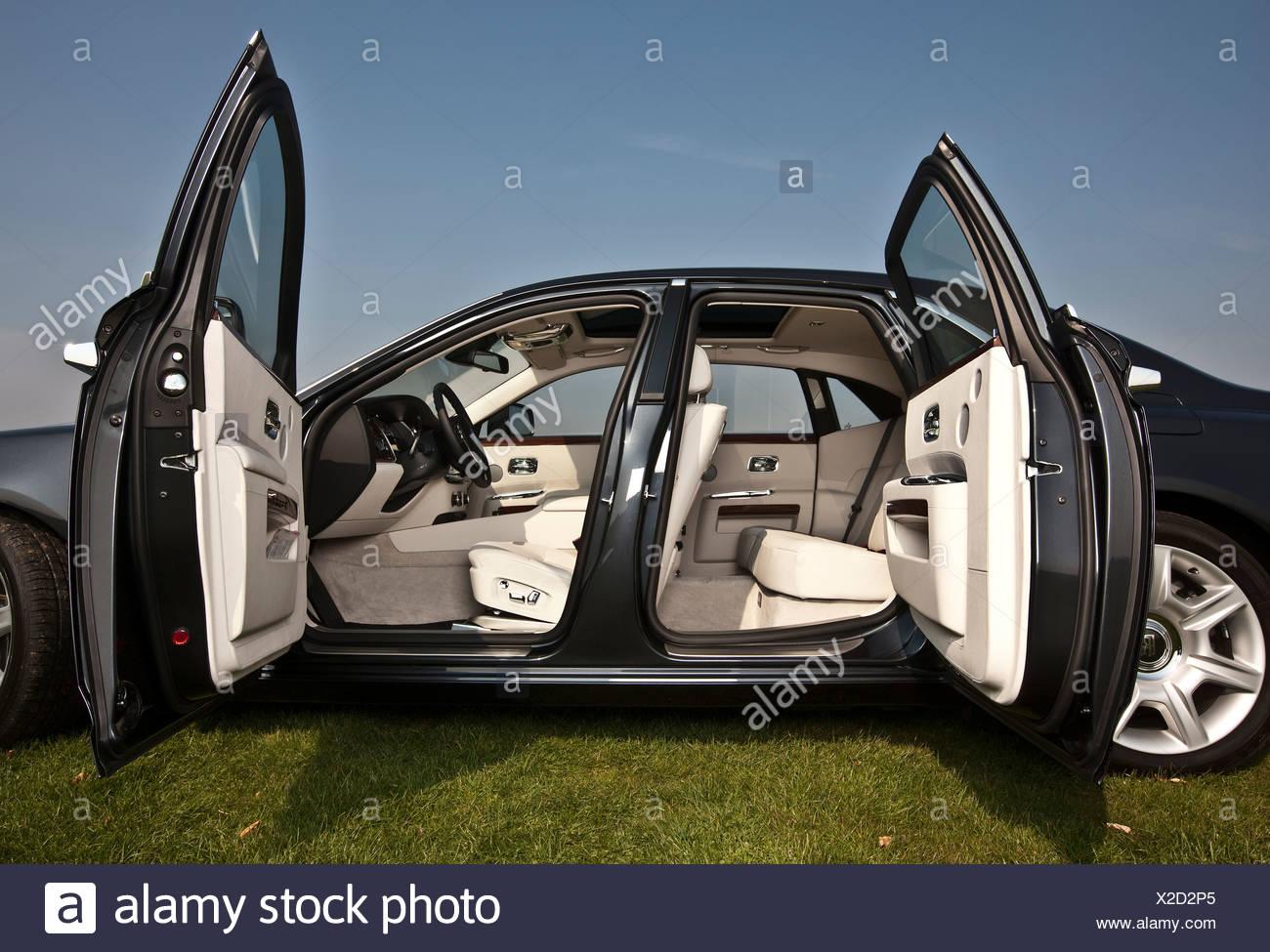 Open doors Rolls Royce Ghost luxury saloon car Goodwood UK 15 04 & Car Open Doors Stock Photos \u0026 Car Open Doors Stock Images - Alamy