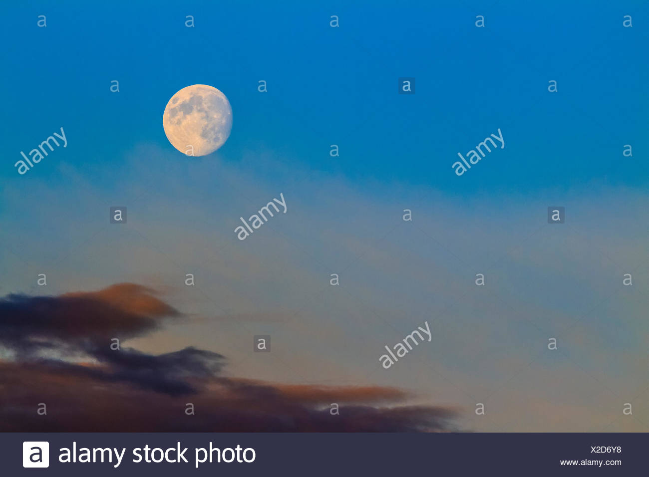 Moon, British Columbia - Stock Image