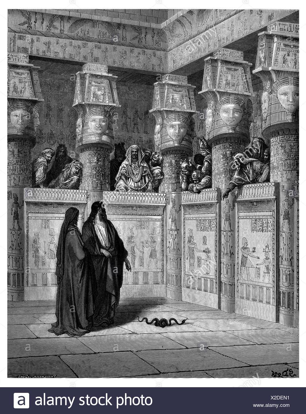 Moses before Pharaoh - Stock Image