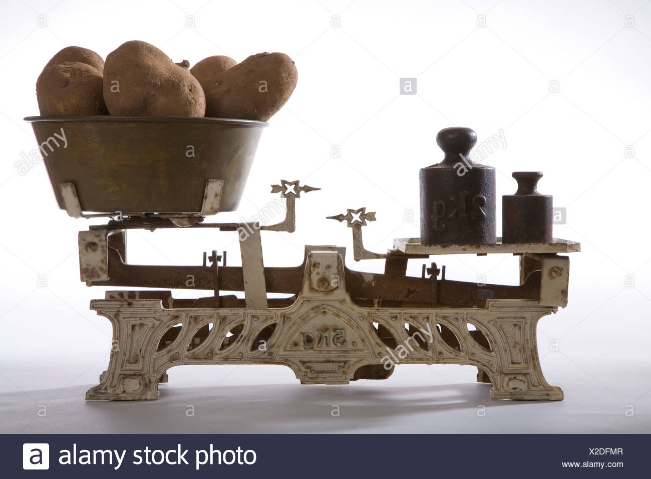 Old market scale, close up - Stock Image