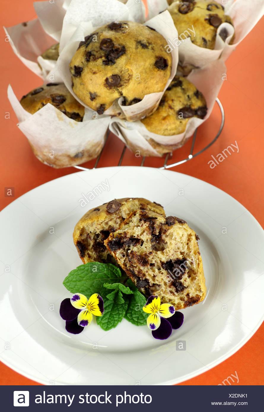 Choc Chip Muffins Stock Photo