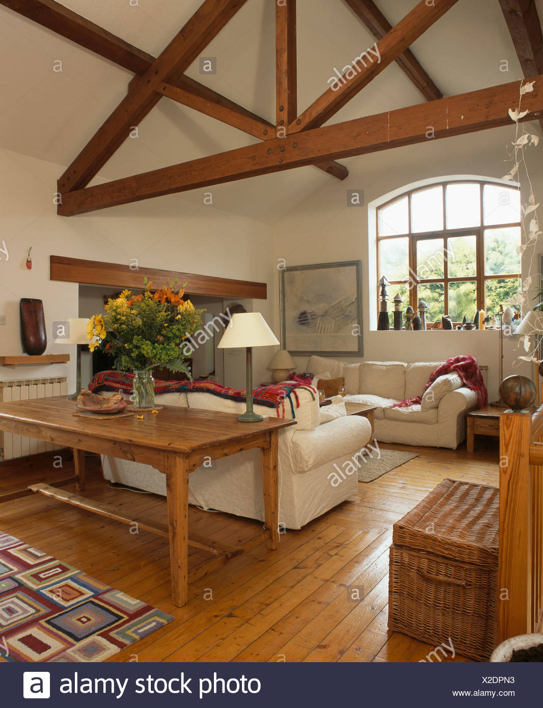 Traditional Living Room Wooden Beams Stock Photos ...