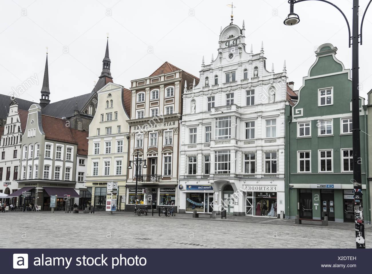 New market, Rostock - Stock Image