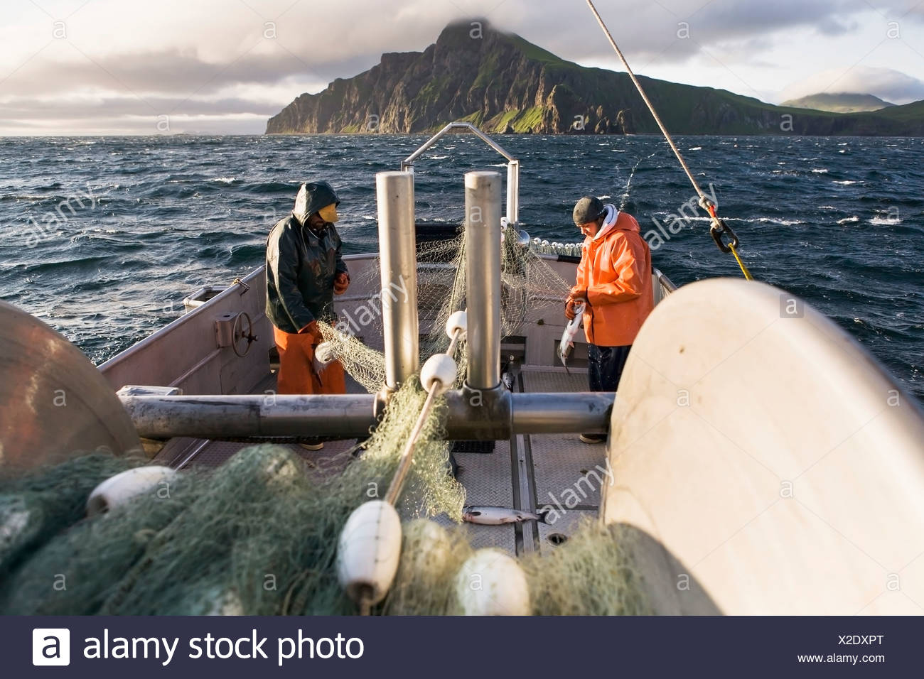 Commercial gill net fishing boats stock photos for Alaska department of fish and game