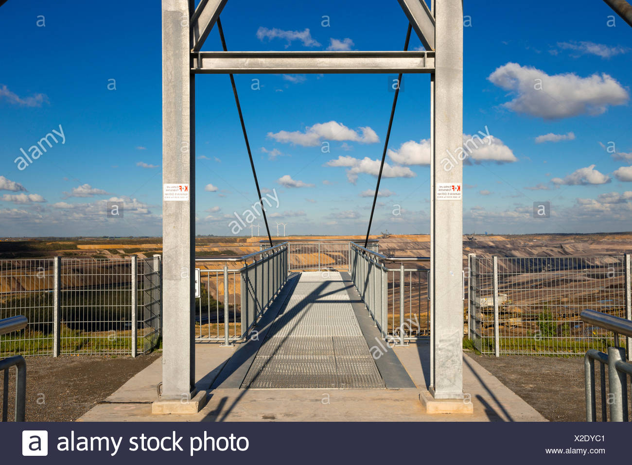 Dismantling, outside, brown coal, Germany, energy, power production, Europe, Hambach, industry, North Rhine-Westphalia, raw mater - Stock Image