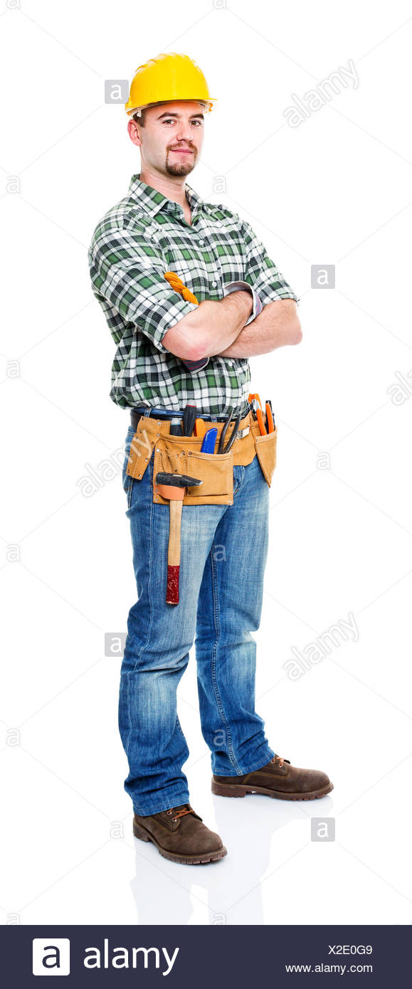 confident manual worker - Stock Image
